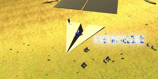 Бумажный самолет в Ravenfield